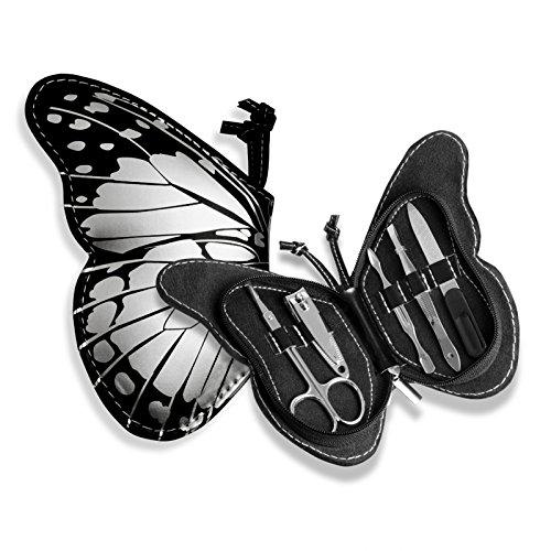 CKB Ltd Butterfly Nail Care Personal Manicure Set Farfalla–La Cura delle Unghie Personali Manicure e Pedicure, Bagaglio Cosmetici Borse da Viaggio & Igiene e Cosmetici Kit Tools