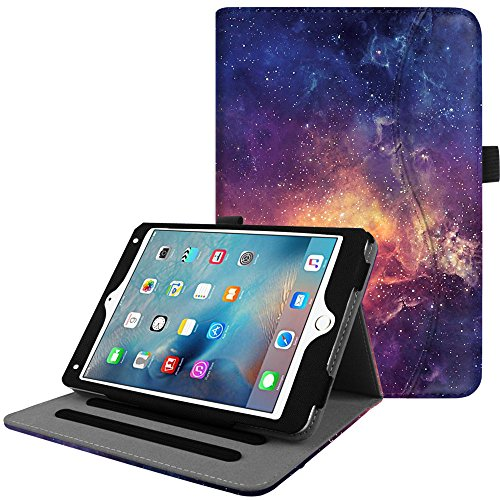 Fintie iPad Mini 4 hoes, [hoekbescherming] multi-hoekbescherming, folie, standaard, beschermhoes, cover, case met documentsleuven, auto wake-/slaep voor Apple iPad Mini 4