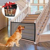 Hundebarrieren, 2020 New Retractable Mesh Hundebarrieren Extra Großes und Breites Babyschutzgitter Pet Tierschutzgitter für Türen, Treppen, Flure