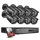 SANNCE 8CH CCTV Camera System 1080N DVR 1TB HDD, 8x 2.0 Megapixels Weatherproof