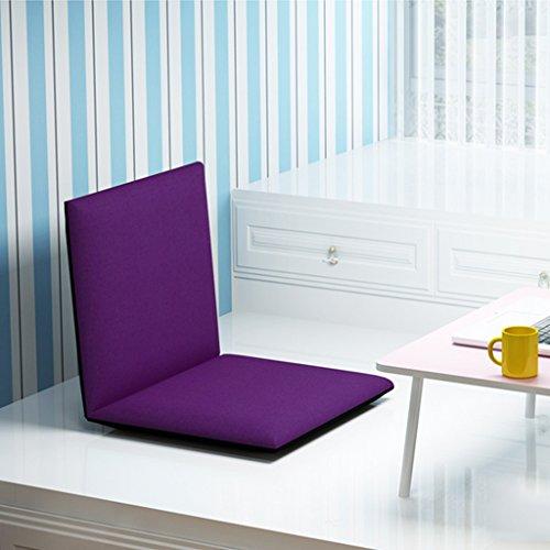 Fu Man Li Trading Company Canapé-lit Simple Pliable Pliable avec Fauteuil canapé-lit Chaise de Chaise Flottante Chaise de Dossier A+ (Couleur : Violet)