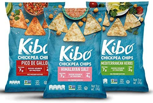 Kibo Chickpea Chips Gluten Free and Plant Based Non GMO Kosher Vegan 3 Flavor Variety Pack 1 product image