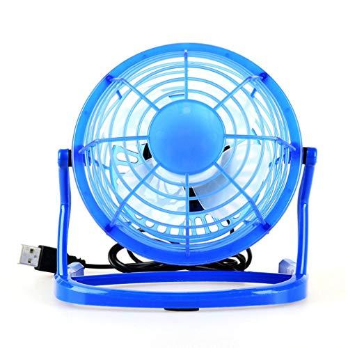 aixu Ventilador USB Mini Tisch Venti Fan Computadora Portátil Ventilador para Computadora Portátil Suministros para Pc Azul