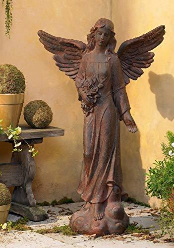 Kensington Hill English Tudor Angel Outdoor Statue 41 1/2' High Sculpture for Yard Garden Patio Deck Home Entryway Hallway