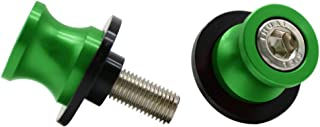 2pcs M10 X1.25 Motorcycle Swing arm Sliders Spools CNC Swing Arm Stand Screw for FZR 1000/600R/400 for Kawasaki Z750 /Z750S/ Z750R /ER-6F /ER-6N /Versys 1000 Duke 125/200/390 RC 125/200/390(Green)