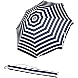 Best beach umbrela - AmazonBasics Beach Sun Umbrella, Navy Blue Striped Review