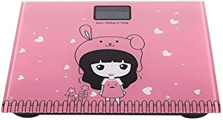 CS-YZC Electronic Scale Digital Household Bathroom Skid Scales Cute Animal Cartoon Battery LCD Display durable (Color : Pink) scales for body weight (Color : Pink)