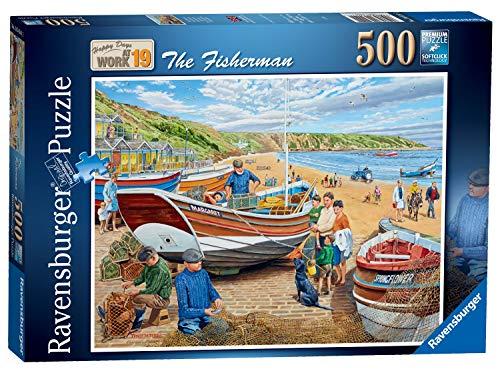 Ravensburger 16414 Happy Days at Work No.19 – The Fisherman 500 Teile Puzzle für Erwachsene & Kinder ab 10 Jahren