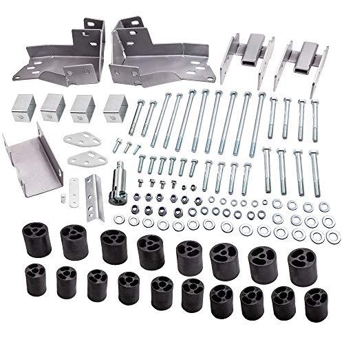 3' Body Lift Kit for Chevy GMC for Silverado Sierra 1500 2007-2013 bumper brackets