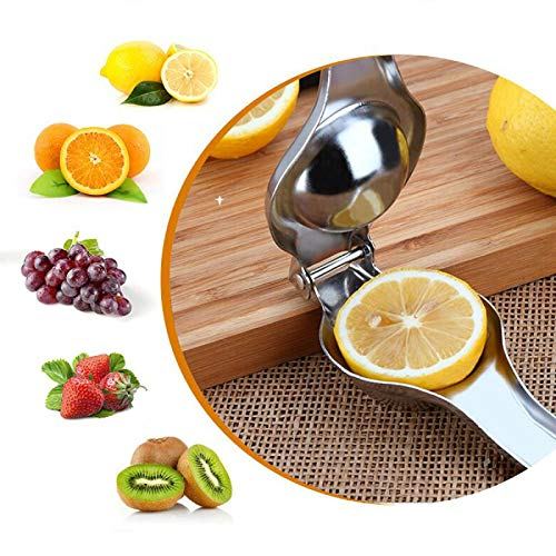 Nicoone Exprimidor Manual Acero Inoxidable Multifuncional Cocina Hogar Manual Exprimidor de Limón Herramienta de Prensa Manual de Lima Exprimidor de Naranja