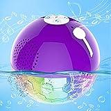 Altavoz Portatil Bluetooth con Luces RGBW, Altavoz Flotante Impermeable IPX7, Sonido & Bass Potente,Controladores Dobles,Manos Libres, Altavoces Ducha Inalámbricos para Hogar Ducha SPA Piscina Viajes