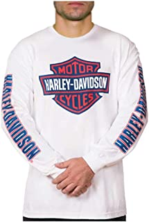 Men's RWB Bar & Shield Long Sleeve Crew Neck Shirt - White