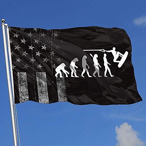 Like-like Gartenflagge Abgenutzte Usa Flagge Wakeboard Evolution Outdoor Indoor Hübsche 90X150Cm Baseball Sport Bunte Basketball Hockey Drucken