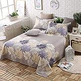Sccarlettly Worth Having Brown Blumenmuster Bettwäsche Casual Einzelstück Chic Cotton Twill Student Dormitory 1.5M Einzelbettdecken Kinder 1.8M 2.0M Doppelbett Bettwäsche (Größe 250 * 230Cm)
