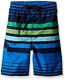Kanu Surf Boys' Little Quick Dry UPF 50+ Beach Swim Trunk, Echo Blue, 5/6