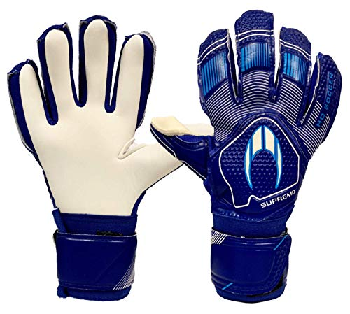 HO Soccer Clone Supremo II Negative Pacific Blue Guantes De Portero, Unisex niños, Azul/Blanco, 6