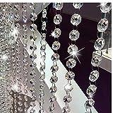 Cuentas con Cuentas de Plata Cristal de la Puerta de Cristal Cortina Garland Cadena Cadena Panel de Muro Cortina para la Puerta de la Sala decoración de la Boda
