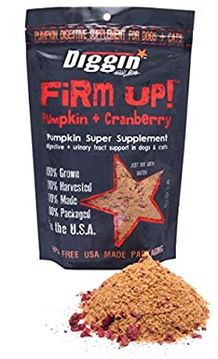 Diggin Your Dog   Firm Up!   Cranberry Pumpkin Super Supplement   GMO free   Digestive & Urinary Tract Support   4oz Bag