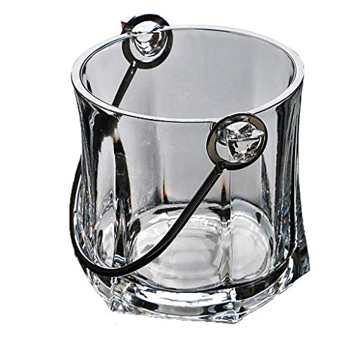 Ijsemmer Transparant Kristal Glas Draagbare Grote Ktv Spit Wijn Champagne Vat Isolatie Te Stuur Clip 13.1 * 13,2 cm XMJ