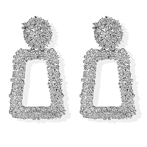 FEARRIN Pendientes Pendientes Colgantes inusuales de Moda para Mujer Pendientes de Oro geométricos Grandes Pendientes Colgantes para Mujer Joyería Moderna LNI1278-2