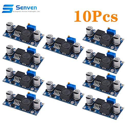 Senven 10 Pack hochwertige LM2596S DC bis DC Hochleistungs-Spannungsregler 3.0-40V zu 1.5-35V Netzteil Buck Converter DIY Einstellbare Stromversorgung Step-Down-Modul, LM2596