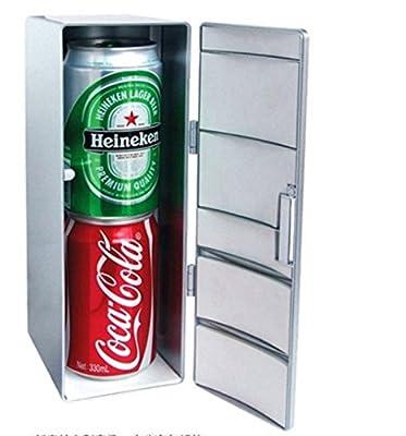 kimberleystore Creative Mini Cold and Warm USB Fridge Drink Refrigerator by kimberleystore