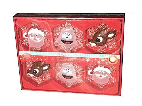 Musical String Lights w/Rudolph, Bumble, Santa