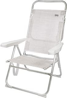 Aktive 53976 Silla plegable multiposición aluminio Beach,