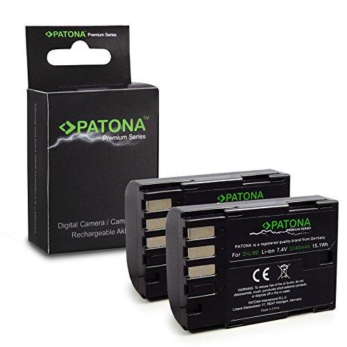 PATONA 2x Premium Batteria D-Li90 compatibile con Pentax 645D K-01 K-3 K-5 K-7