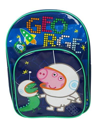 Peppa Pig Children's Backpack, 10 Liters, Navy Blue PEPPA001320