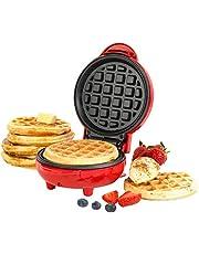 Giles & Posner® EK4214GVDEEU7 Non-Stick Mini Waffle Maker With European Plug, 550 W, Red