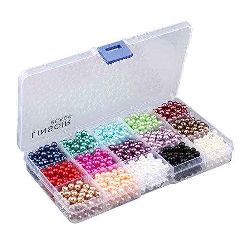 Sauvoo 1500pcs Cuentas 15 Estilo/En caja Perlas perlas