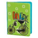 Pinaken Women and Girls Travel Wallet Passport Holder (Brain Bridge Cycle, Canvas)