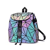 Main Material:PVC,Lining Material:Linen,Closure Type:String Size: about 9.84*9.84*5.9 in or 25*15*25cm(L*H*W),it's cute and small backpack Adjustable shoulder straps, it would be more grey when not reflecting the light Interior 2 small pockets,1 smal...