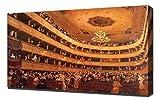 Lilarama Gustav Klimt - Auditorium in The Old Burgtheater Vienna - Art Leinwandbild - Kunstdrucke - Gemälde Wandbilder