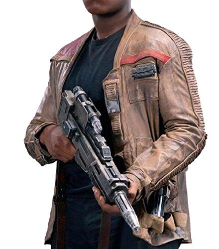 e Genius Star Wars Finn Jacket, Force Awakens Poe Dameron Giacca in pelle beige 2 ?Mai visto prima? Variazione speciale! Beige XX-Small