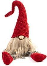 Sierra Pacific Crafts Christmas Garden Gnomes - Plush Gnome Toy Collective Figurine Doll Santa for Festive Decoration, Tree Ornaments, Christmas Decorations Red or Grey 10in Tall