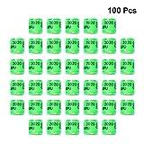 chenpaif 100Pcs 10mm Identificar Portador de Palomas Suministros de Entrenamiento para Palomas N/úmero de Patas Bandas para p/ájaros Amarillo