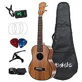 Nrpfell Tenor Ukulele Set 26 Pulgada Acacia Wood Ukelele AcúStico 4 Cuerdas Hawaiian Guitar Music Instrument