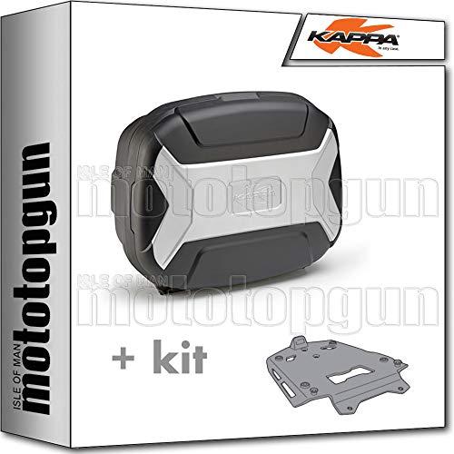 kappa maleta kvc35 k'vector 35 lt + portaequipaje aluminio monokey compatible con bmw f 800 gs adventure 2017 17