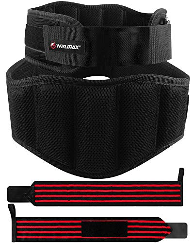 WIN.MAX Weight Lifting Belt,Workout Belt for Lifting,Nylon Weightlifting Belt,Squat Belt for Men,Back Belt for Lifting,Training Belt,Lower Back Support for Lifting,Fitness,Crossfit(Black, L)