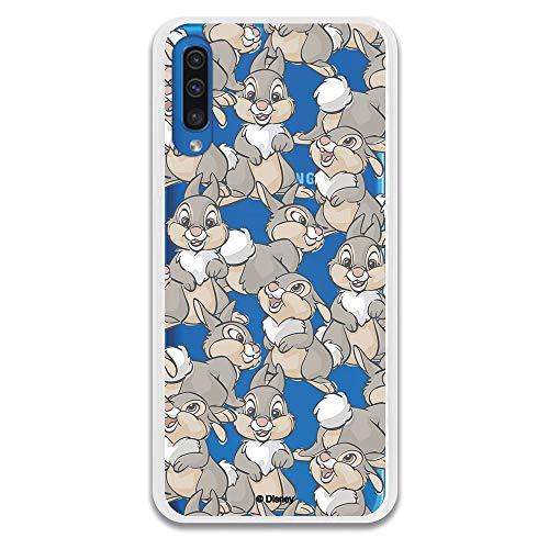 Funda para Samsung Galaxy A50 Oficial de Bambi Tambor Patrones para Proteger tu móvil. Carcasa para Samsung de Silicona Flexible con Licencia Oficial de Disney.