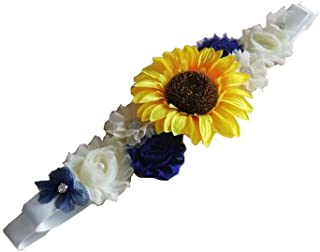 Sunflower Bridal Wedding Belt Maternity Pregnancy Flower Sash Baby Shower Y052