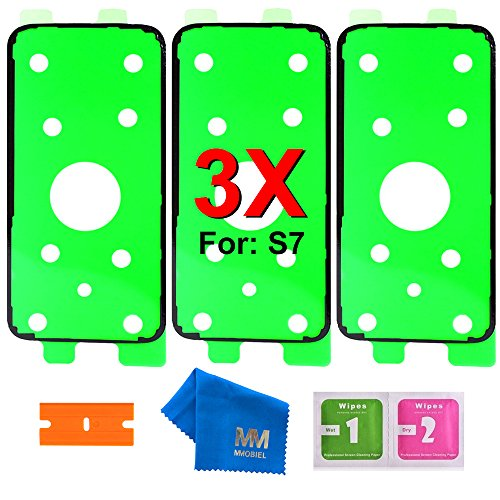 MMOBIEL 3 x Batterie Rückseite Cover Passgenaue Klebe Sticker kompatibel mit Samsung Galaxy S7 G930 Series