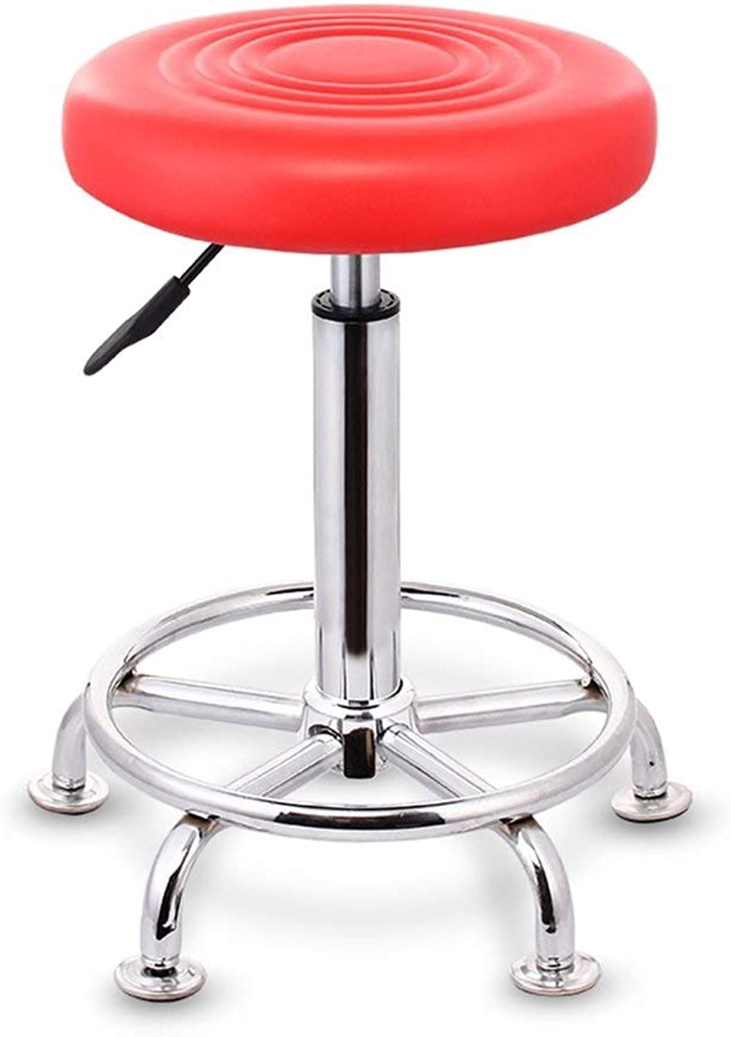 MMAXZ Metal bar Stool for Leather bar Chair, Kitchen Chair Breakfast, 1 Piece,Metal (color   Red)