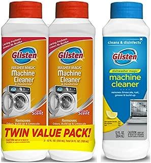 Glisten Washer Magic Washing Machine Cleaner and Deodorizer 2-Pack and Dishwasher Magic Machine Cleaner and Disinfectant