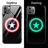 Coque de en Verre Lumineux pour iPhone 6 6S 7 8 Plus X XR XS XS Max 11 11 Pro 11 Pro Max Avengers Black Panther Iron Man Bat Spider Man iPhone 11 3