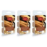 CANDLE WARMERS ETC 3-Pack 2.5 oz Wax Melt Tart Brick, Vanilla Cinnamon