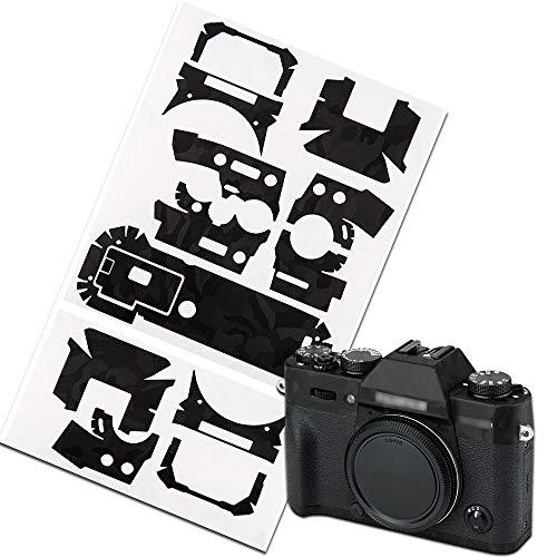 Pellicola adesiva protettiva per fotocamera Fujifilm X-T30 DSLR, con adesivo 3M, antigraffio, motivo mimetico, colore: nero