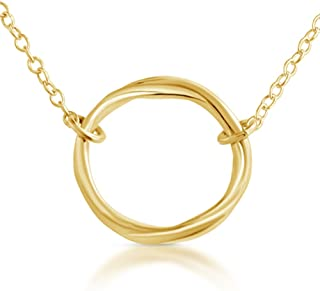 Karma Ring Circle of Life Gold Plated Over .925 Sterling Silver Necklace
